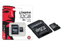 Strepito Tarjeta MicroSD Clase 10 Kingston + adaptador 32 Gb
