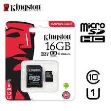 Strepito Tarjeta MicroSD Clase 10 Kingston + adaptador 16 Gb