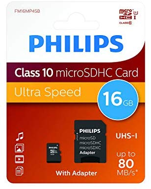 Tahirah Tarjeta de memoria Micro Sd 16gb Phillips Class 10 ECO